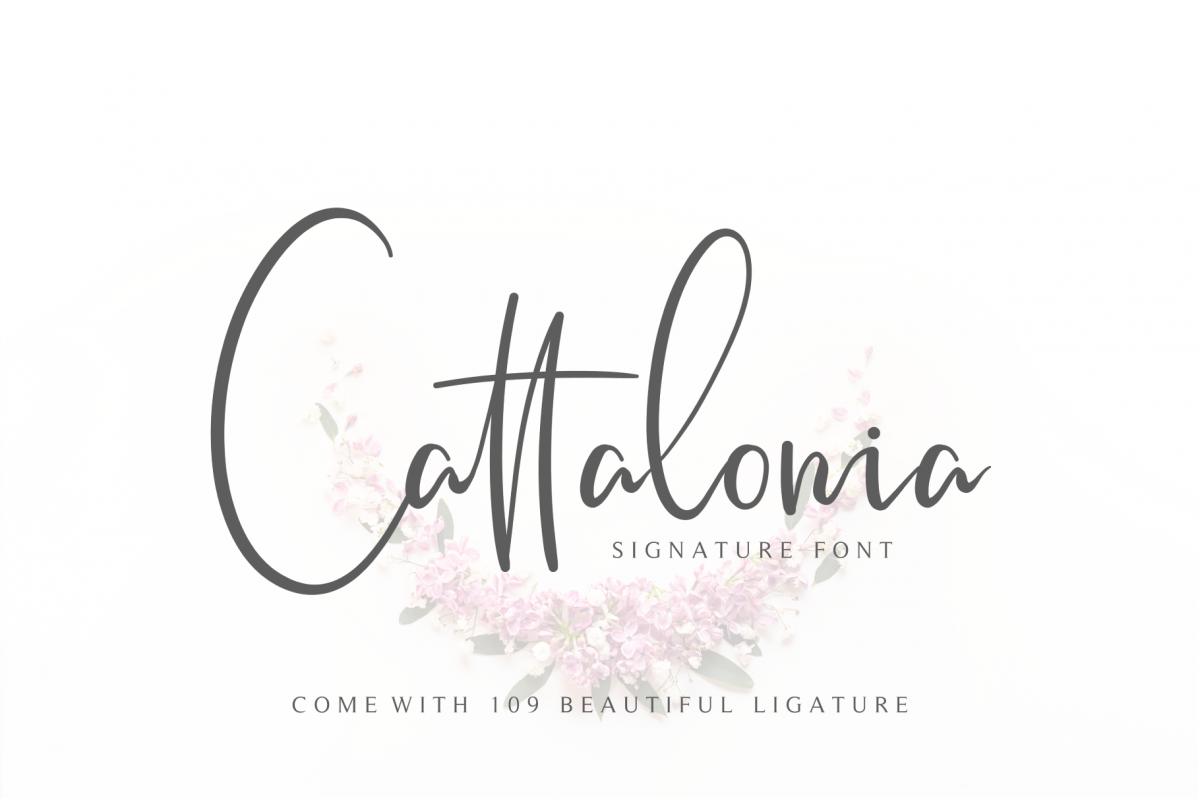 Cattalonia Signature Font example image 1