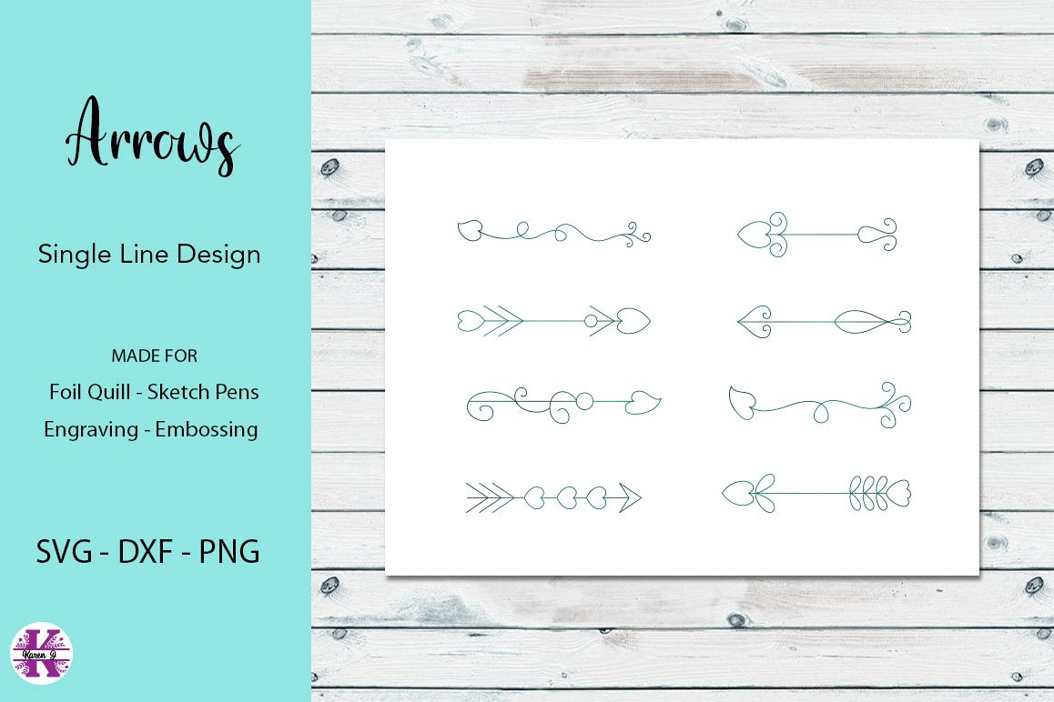 Arrows SVG for Foil Quill Single line Designs example image 1