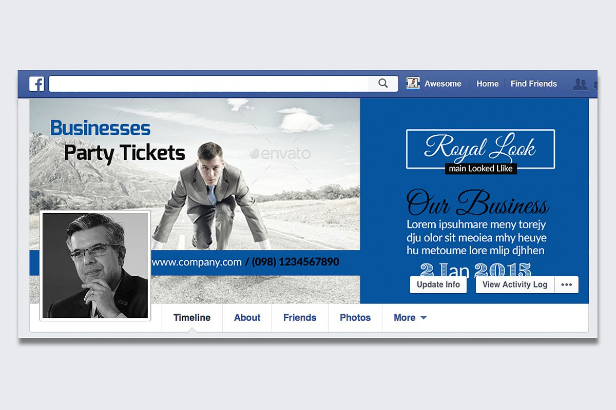 Creative Business Facebook Timeline Cover example image 1