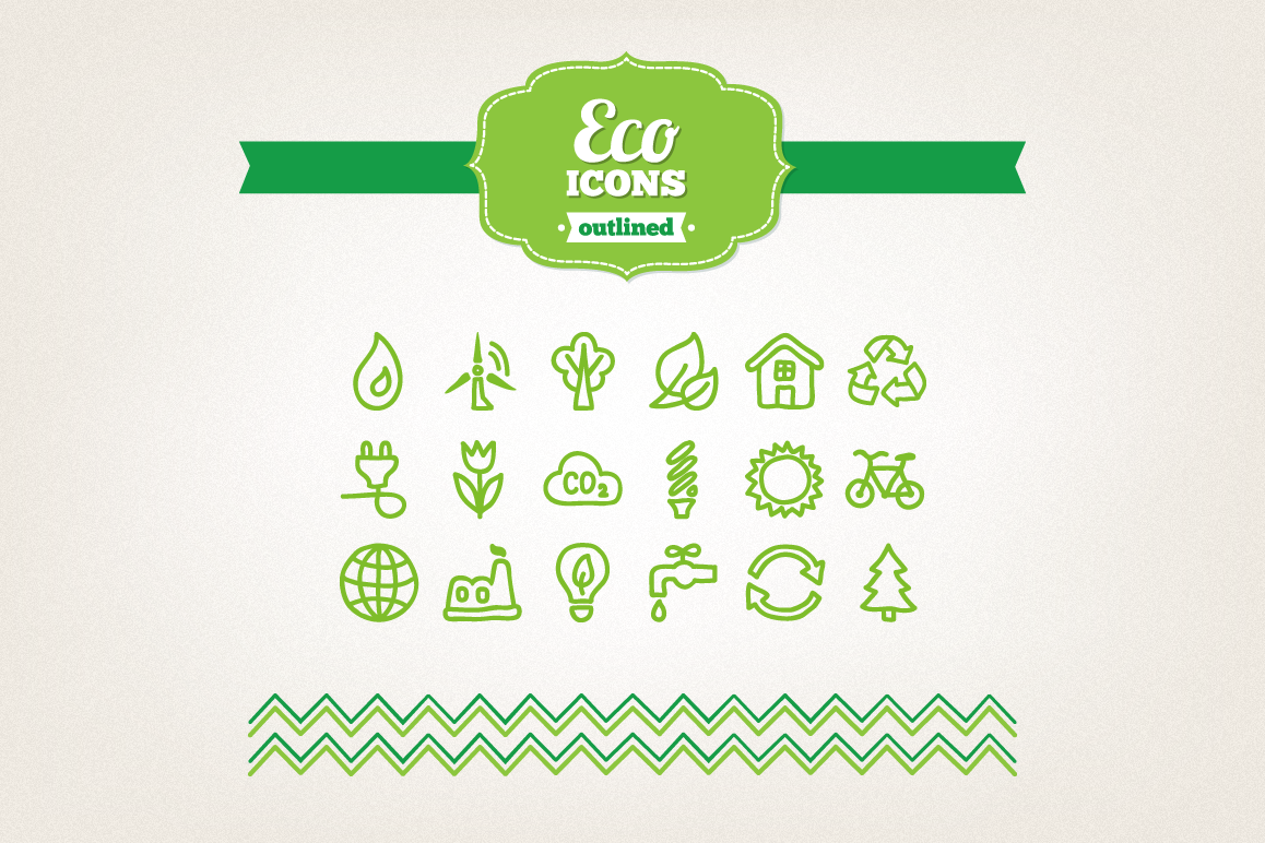 Hand Drawn Eco Icons example image 1