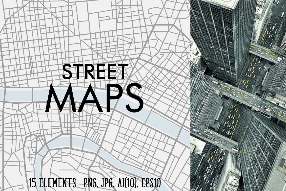 Street maps illustrations example image 1