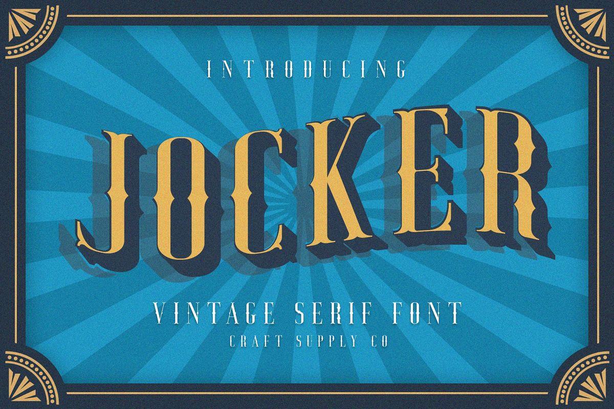 Jocker - Vintage Serif Font Family example image 1