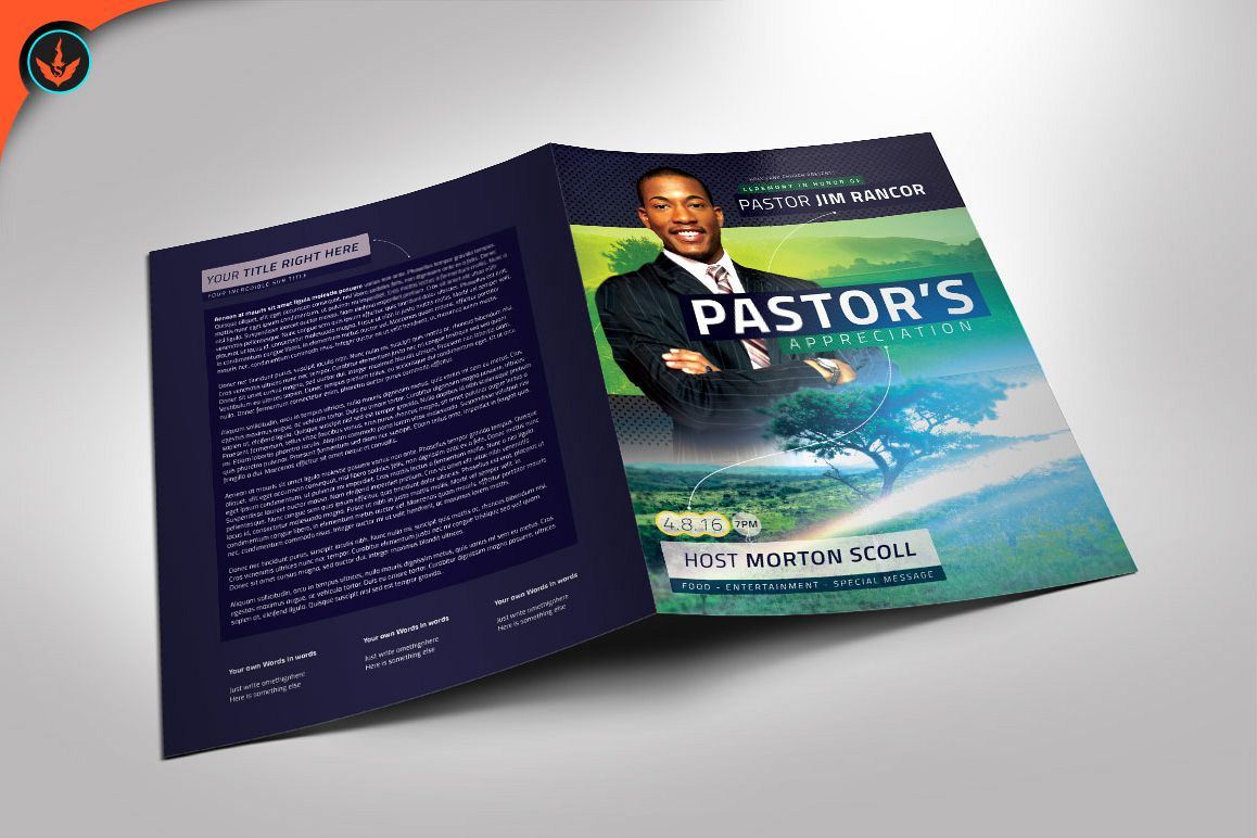 Modern Pastors Appreciation Program Photoshop Template example image 1