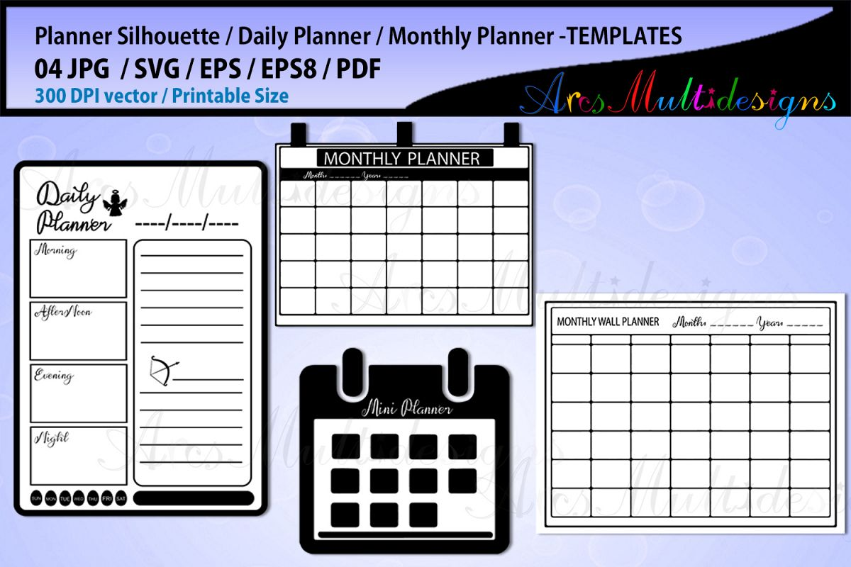 daily planner svg bundle monthly plann design bundles
