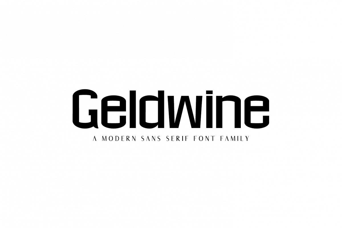 Geldwine Sans Serif Font Family example image 1