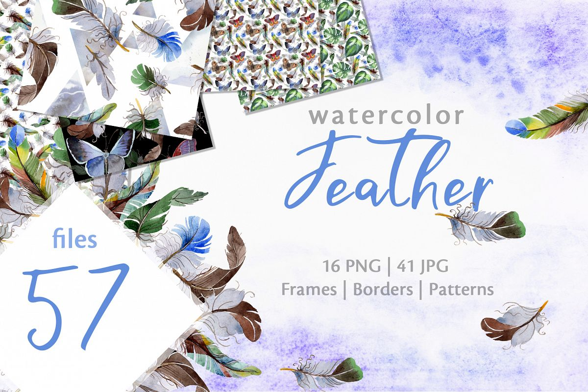 Feather Watercolor png