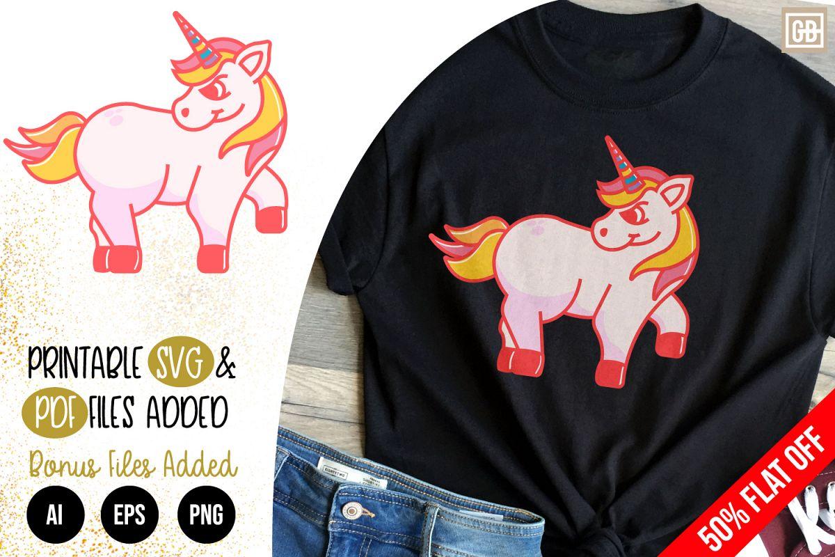 Angry Unicorn SVG, EPS, AI, PDF, PNG example image 1