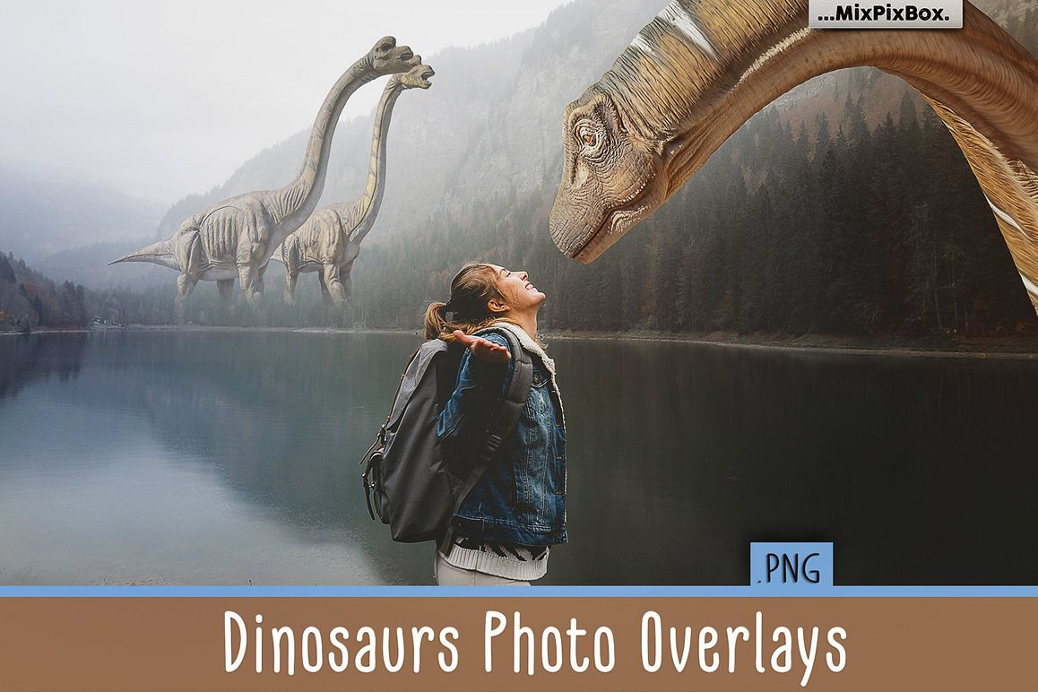 Dinosaurs Photo Overlays Pack example image 1