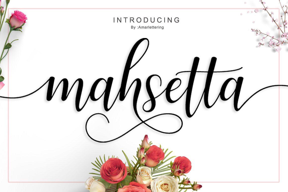 Mahsetta Script  example image 1