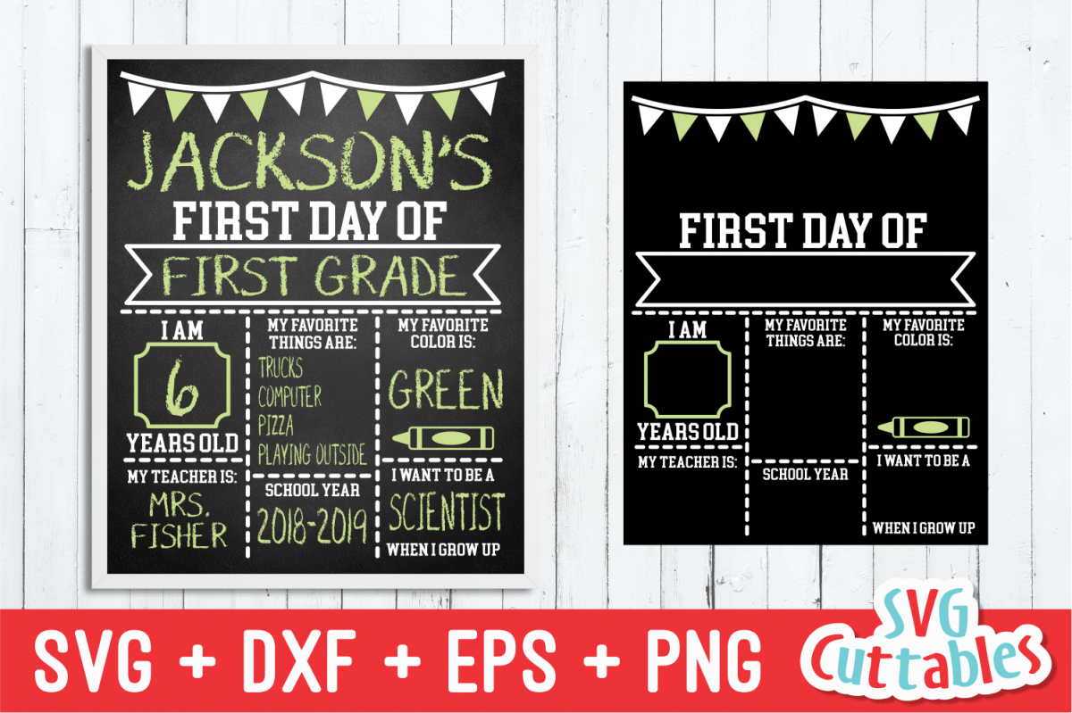 First Day of School Flags| SVG Cut File example image 1