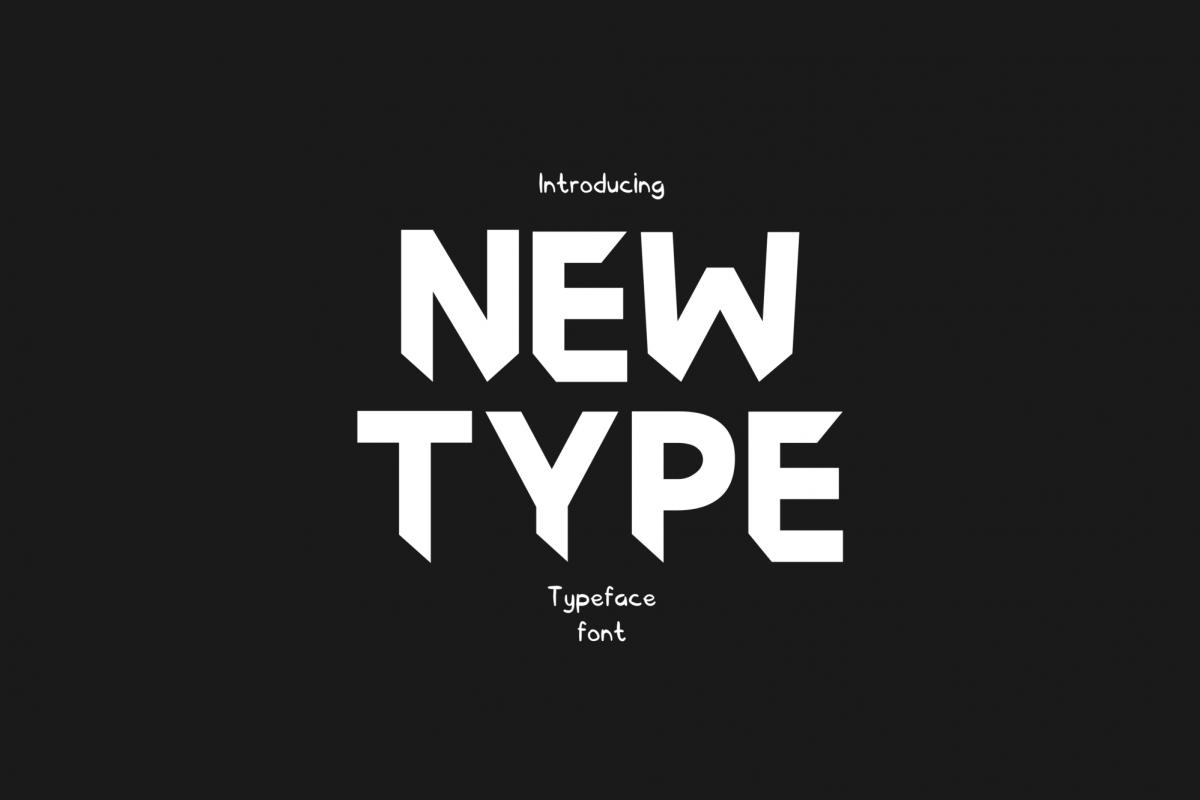 Newtype Typeface Font example image 1