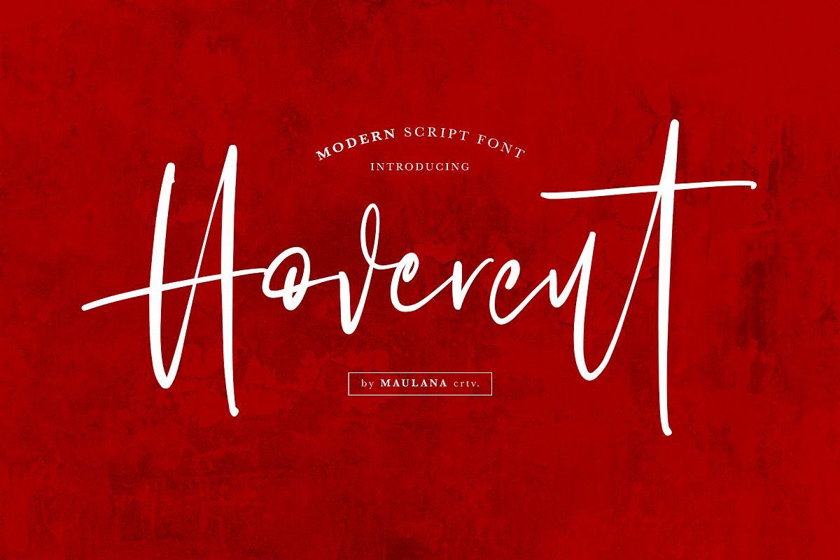 Hovercut Brush Script Font example image 1