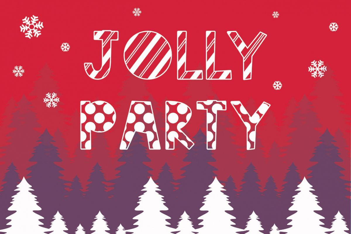 Jolly Party - A Christmas Font example image 1