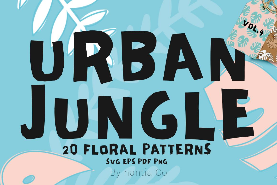 20 Urban Jungle Patterns Vol.4 example image 1