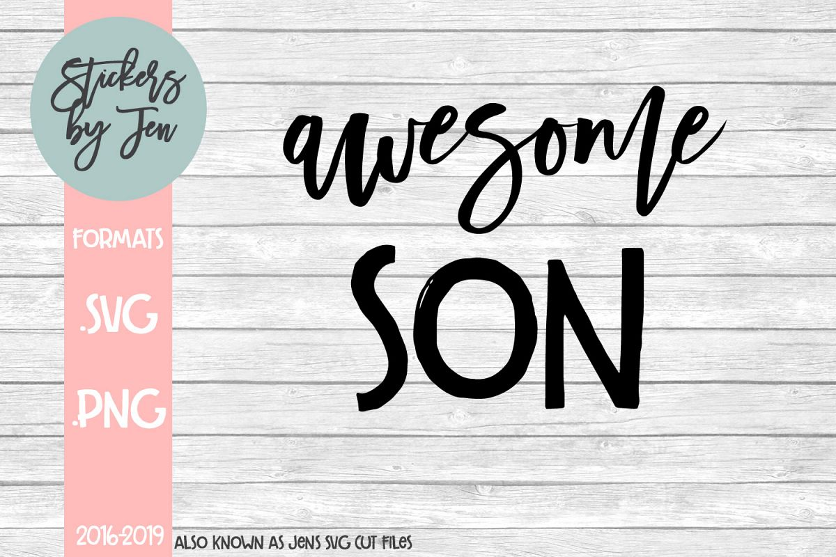 Awesome Son SVG Cut File example image 1