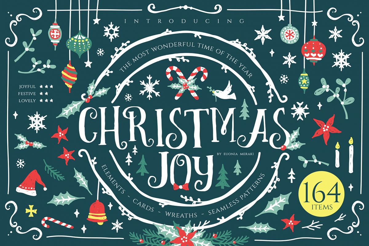 Christmas Joy - Cute and Festive Graphic Pack example image 1