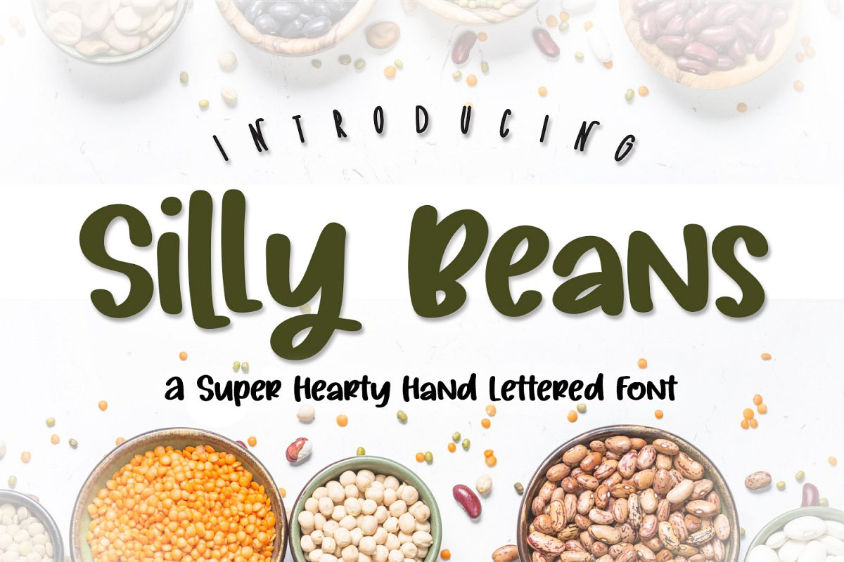 Silly Beans Font example image 1