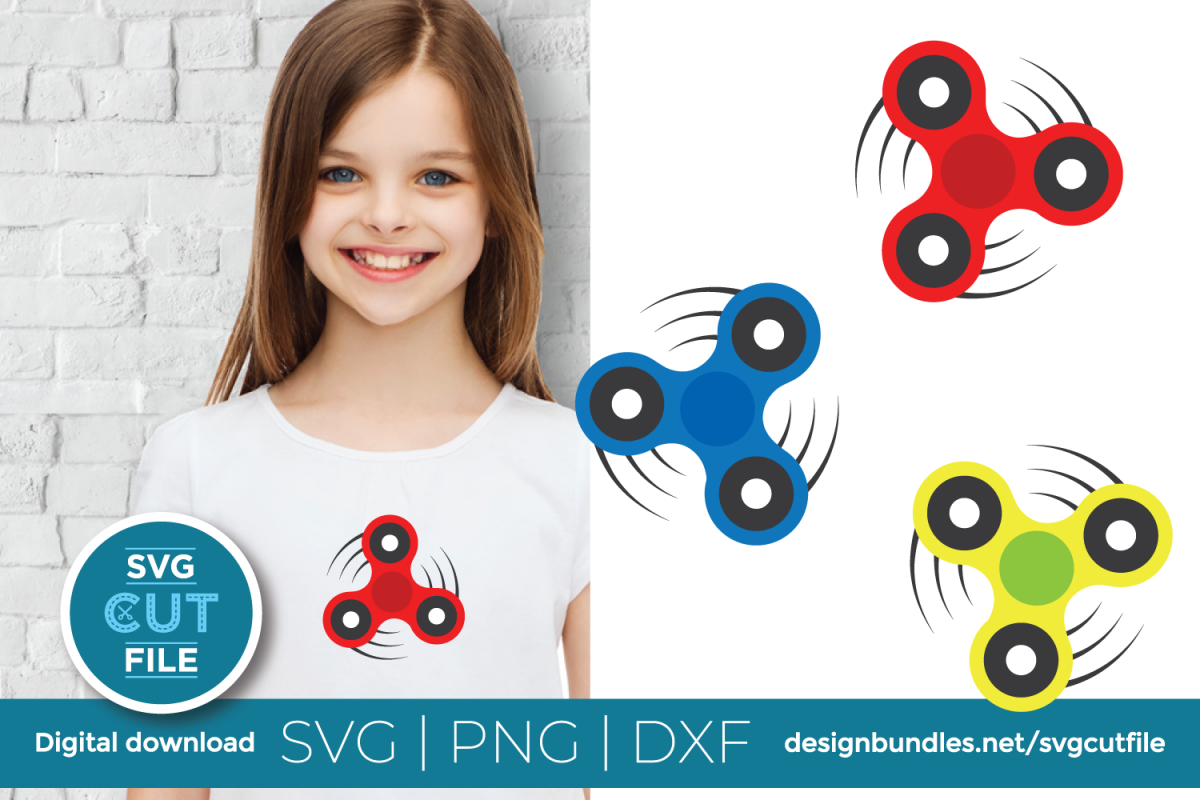 Fidget spinner svg bundle - Boy toy - Hand spin master example image 1