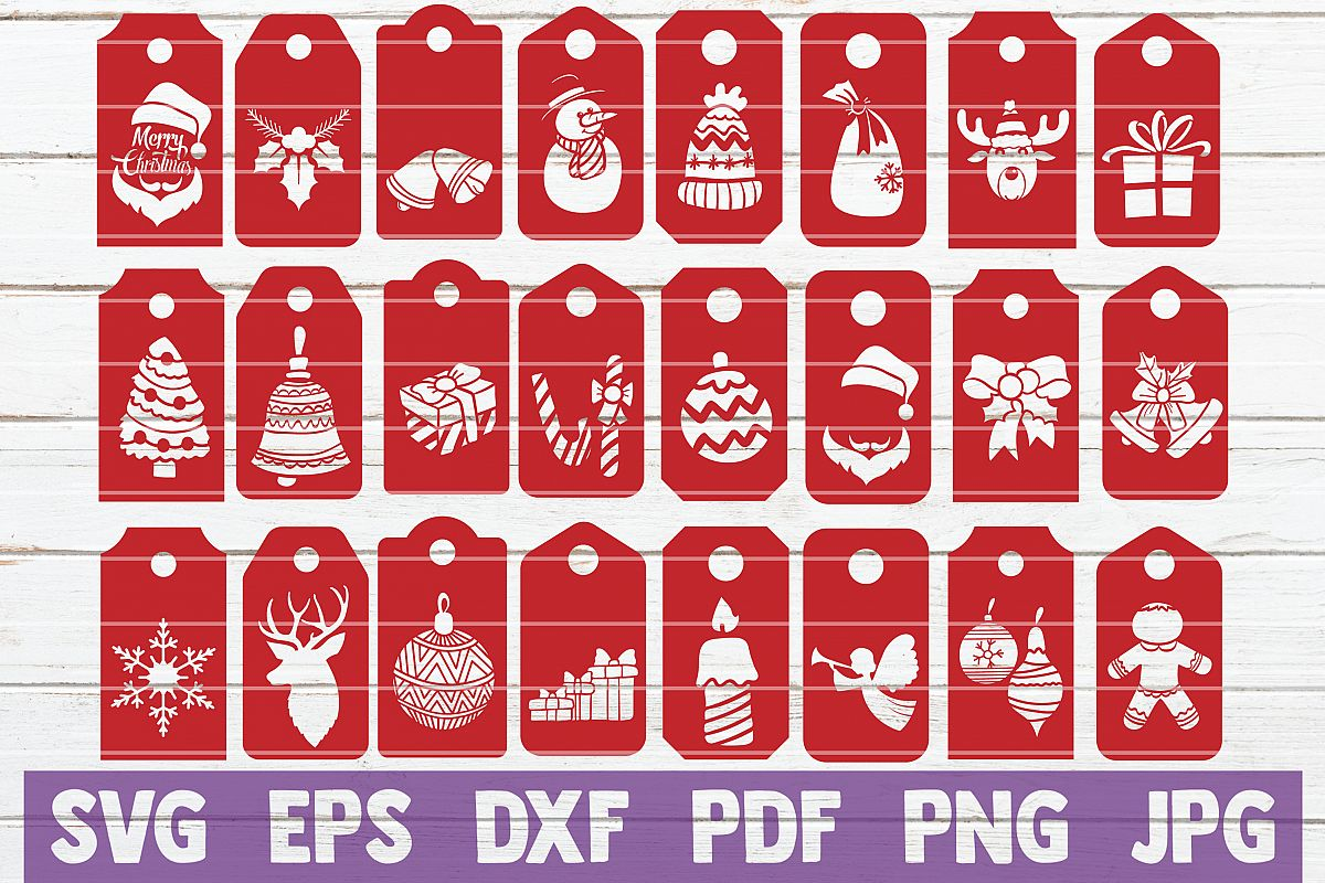 Christmas Tags SVG Bundle | SVG Cut Files example image 1