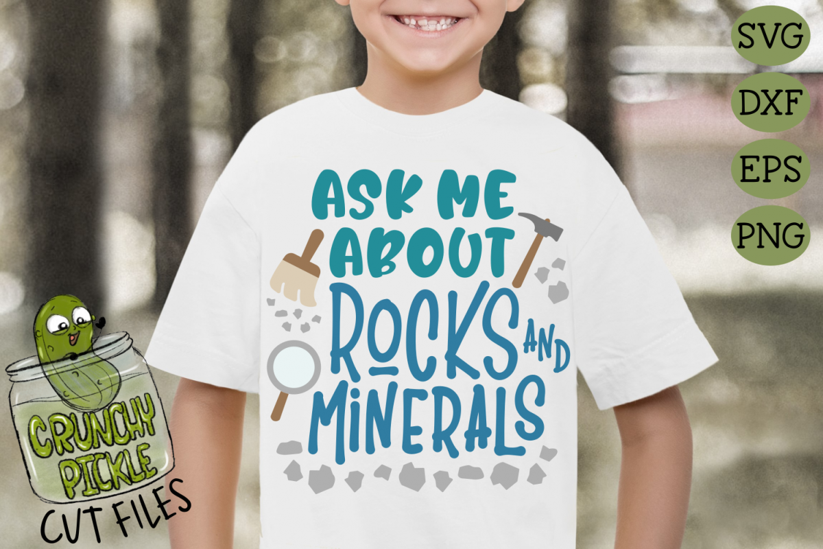 Ask Me About Rocks and Minerals SVG example image 1