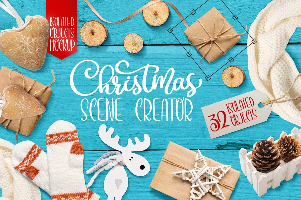 Christmas scene creator, isolated items example image 1