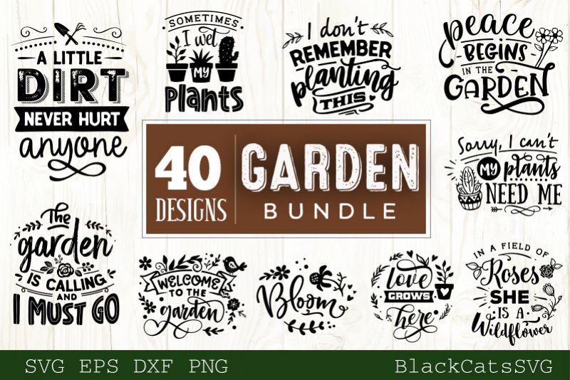 Garden SVG bundle 40 designs Gardening SVG bundle example image 1