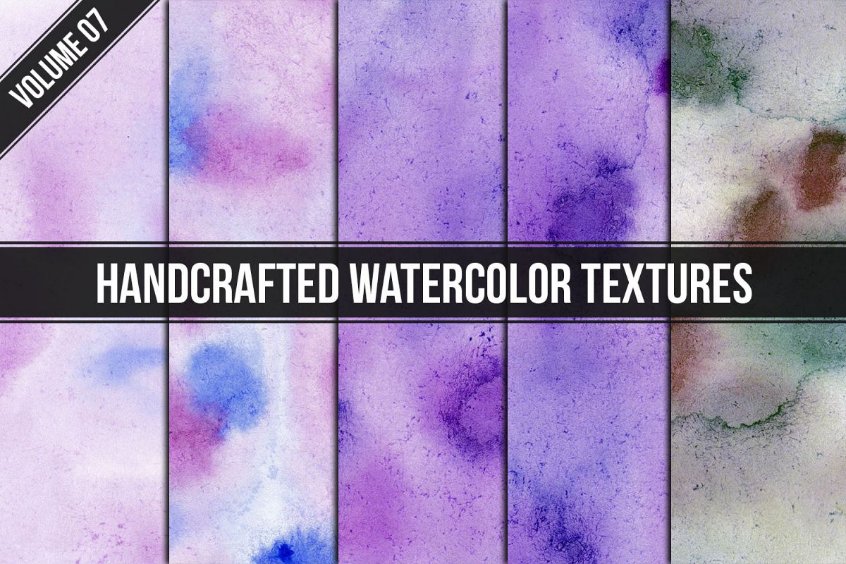 Handcrafted Watercolor Textures Vol. 07 example image 1