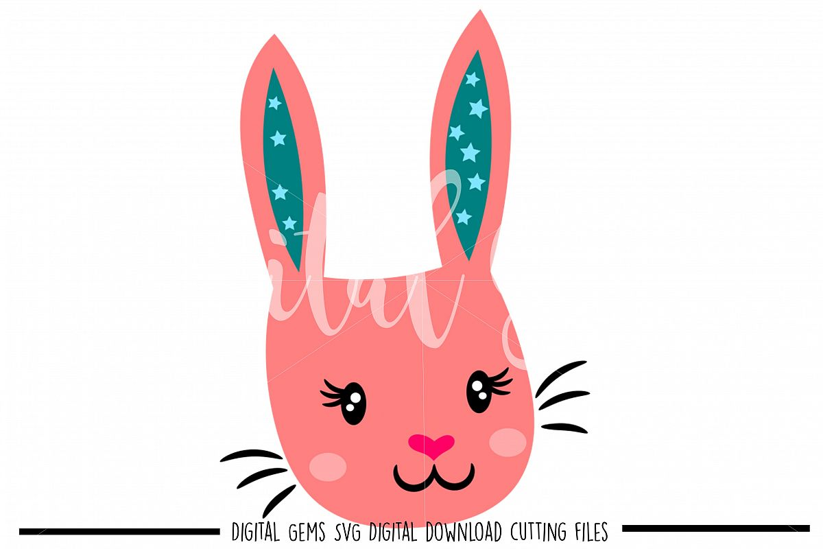 Rabbit SVG / DXF / EPS / PNG files example image 1