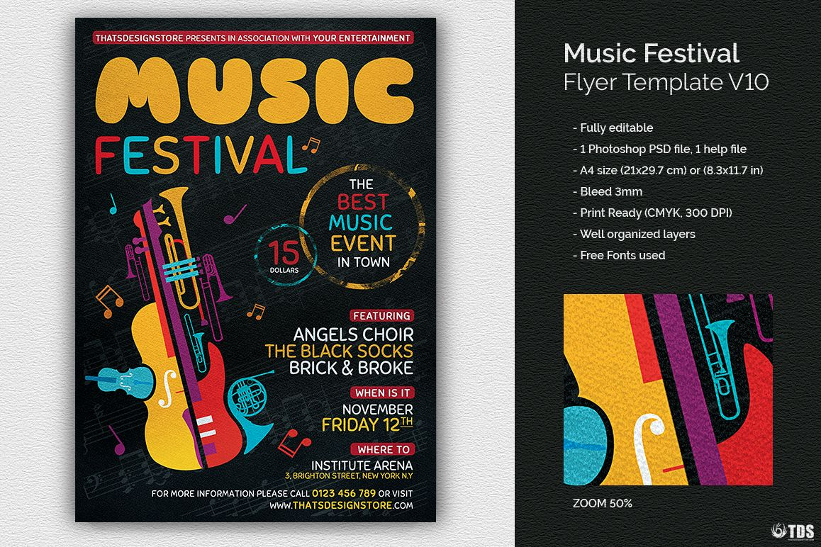 Music Festival Flyer Template V10 example image 1