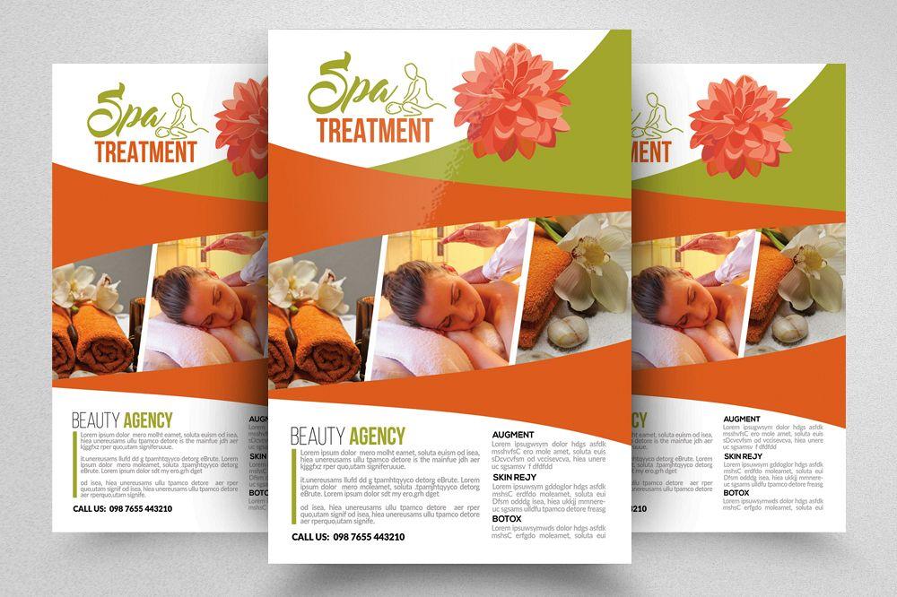 beauty spa flyer templates