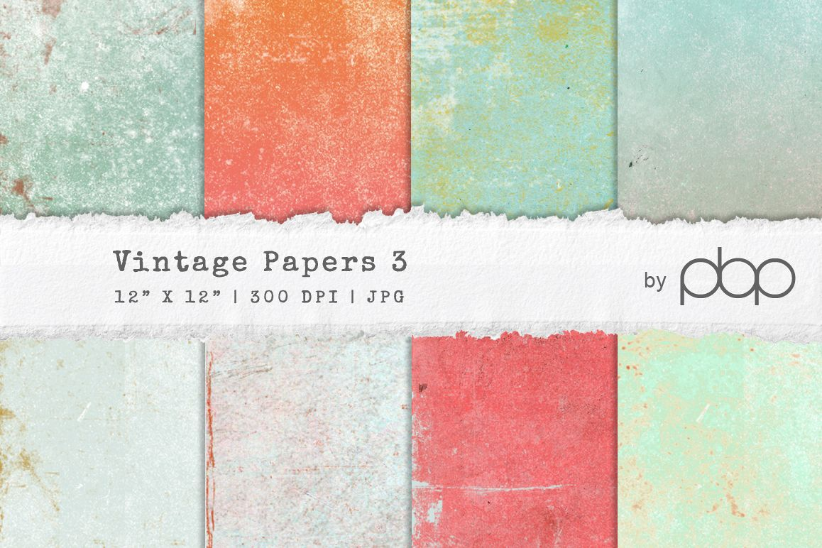 Vintage Paper Textures 3 example image 1