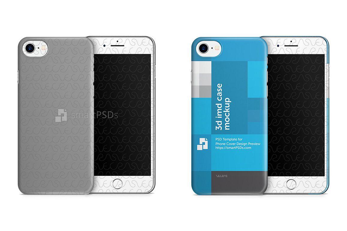 Apple iPhone 7 3d IMD Mobile Case Design Mockup 2016 example image 1