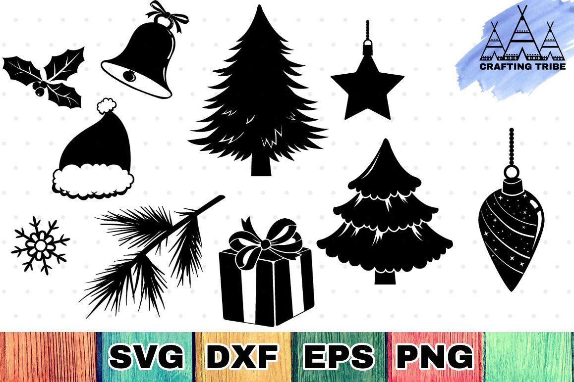 Christmas SVG Cut Files Pack example image 1