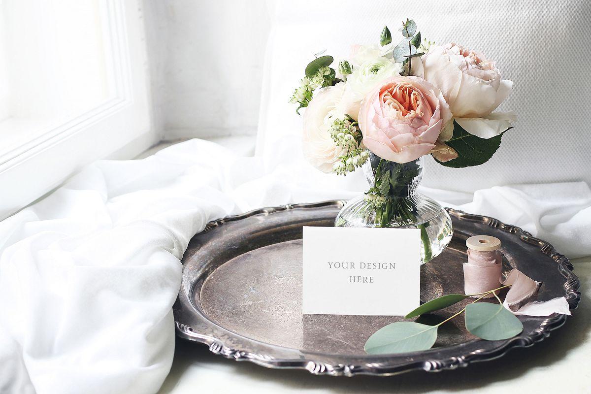 English roses wedding mockup example image 1