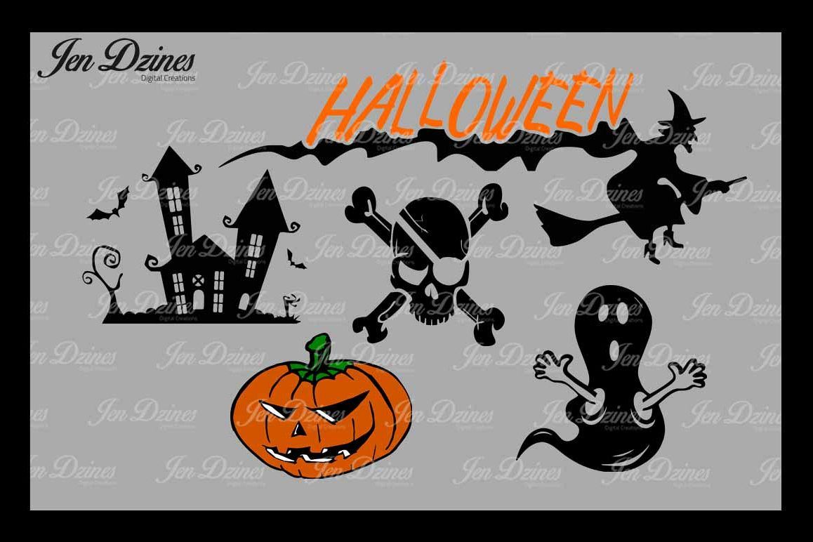 Halloween SVG DXF EPS PNG example image 1