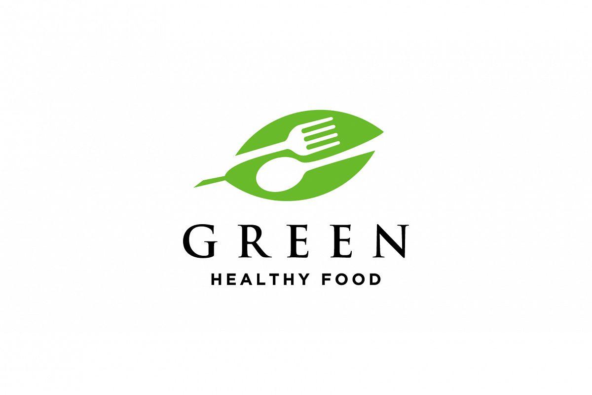 green healthy food logo example image 1