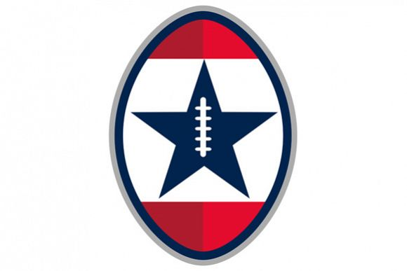 American Football Ball Star Stripes Retro example image 1