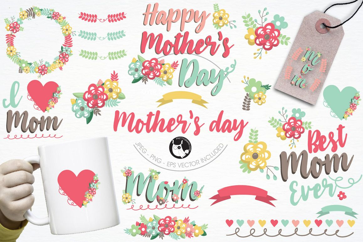 Mother's day graphics and illustrations example image 1