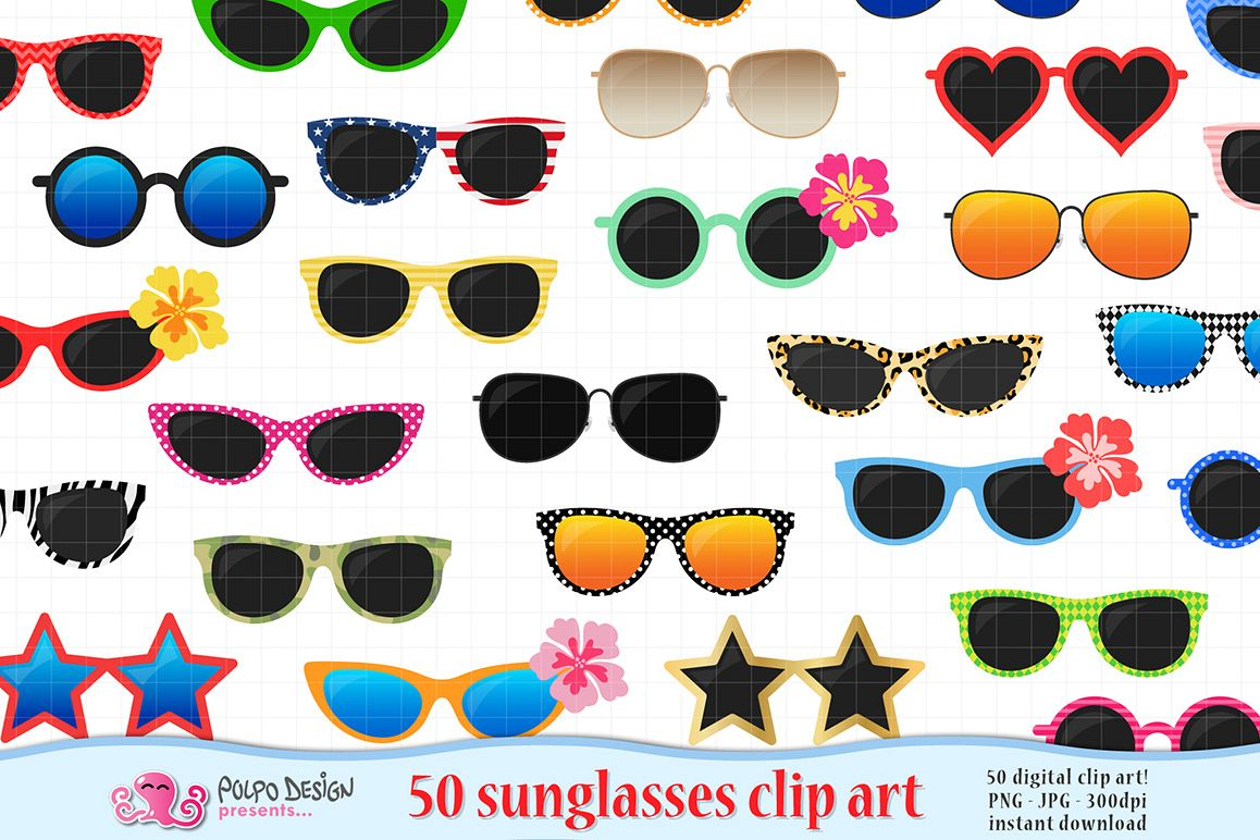 50 Sunglasses clipart example image 1