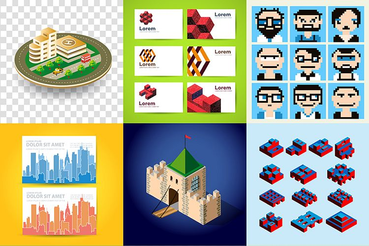 Big bundle set of design templates example image 1
