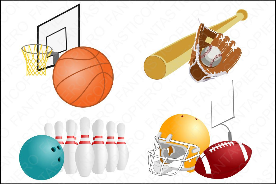 Sports transparent background. Clipart jpg and png