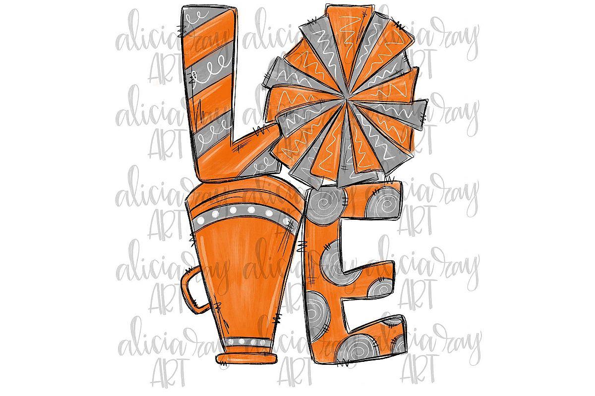 Cheer Love Orange and Gray example image 1
