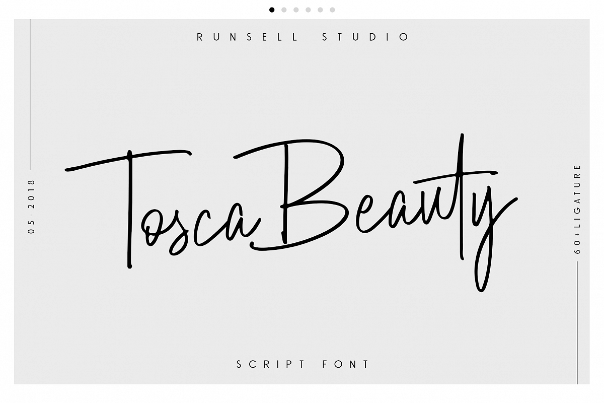 Tosca Beauty Handwritten Font example image 1