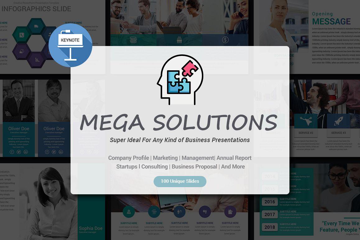 Mega Solutions Keynote Template example image 1