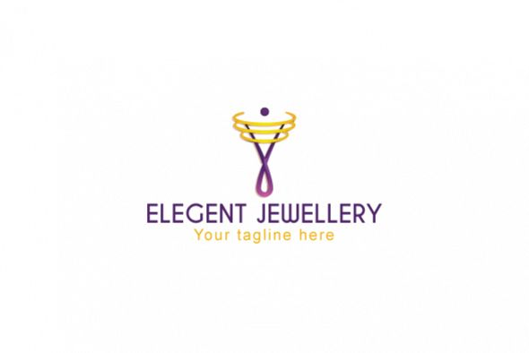 Elegant Jewellery - Creative Iconic Human Figure Stock Logo example image 1