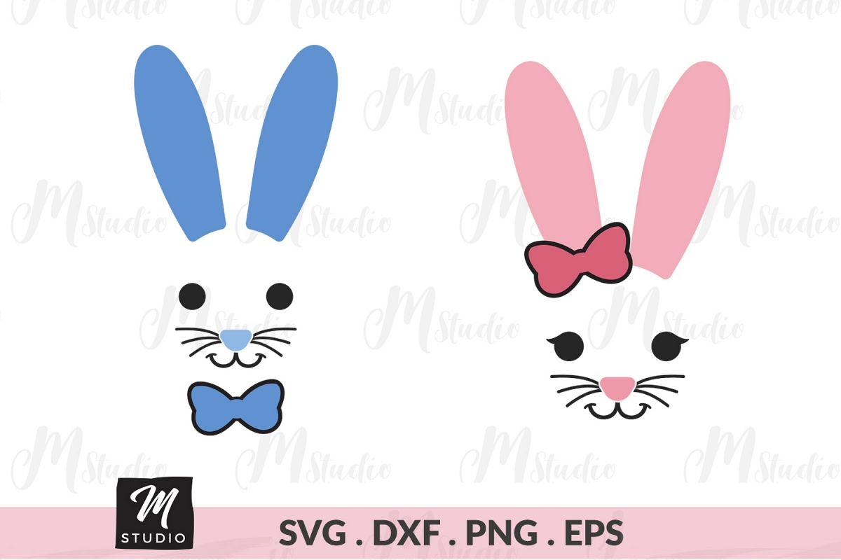 Bunny face svg. example image 1