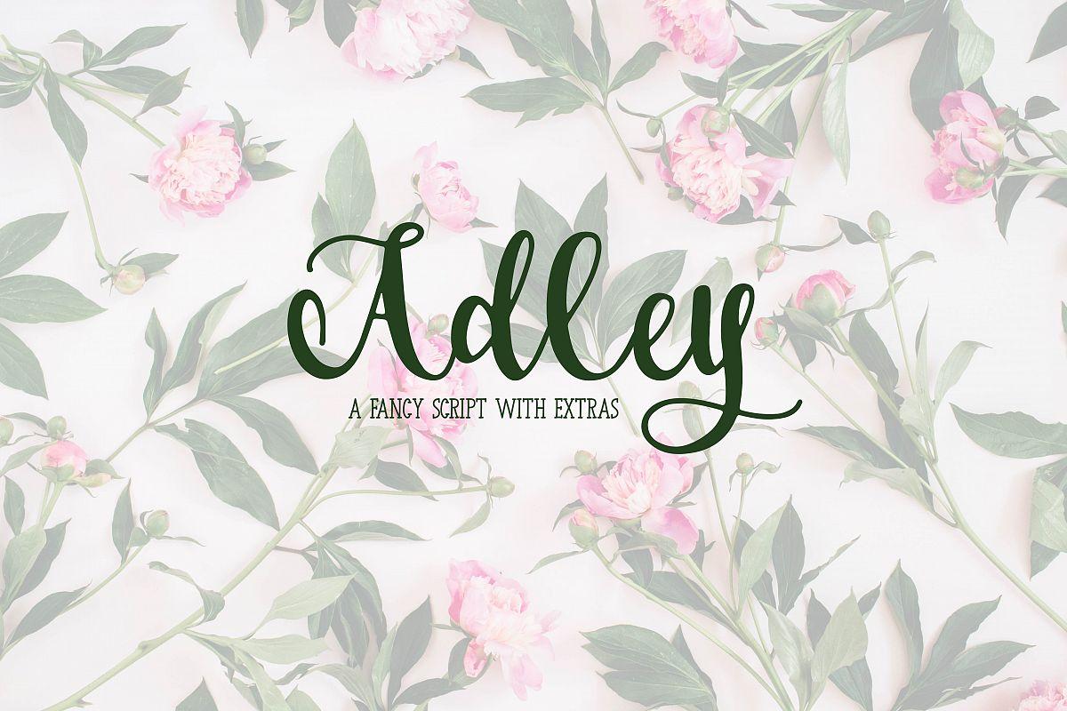 Adley - A Fancy Script example image 1