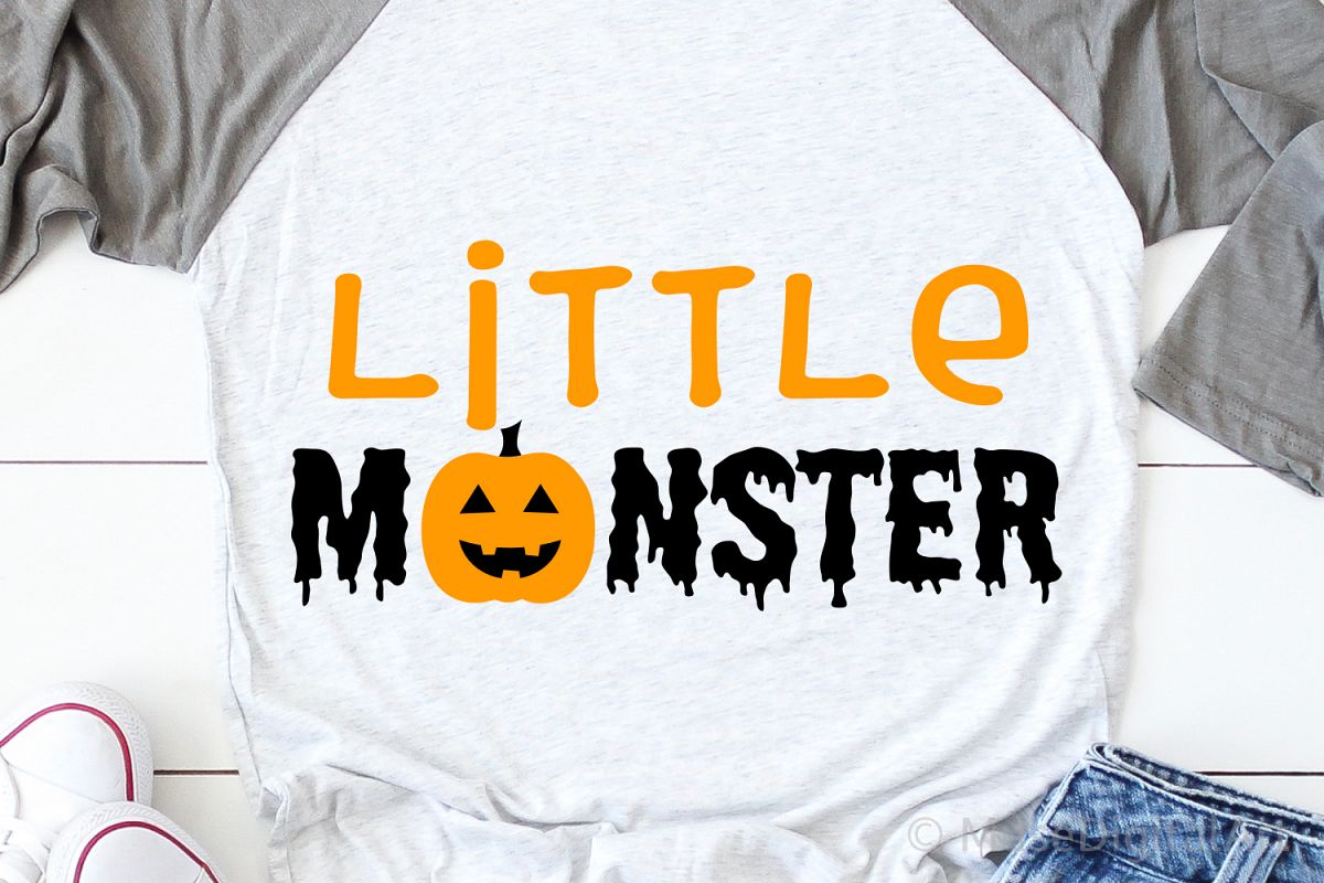 Little Monster Svg, Halloween Svg, Momster Svg, Spooky Svg example image 1