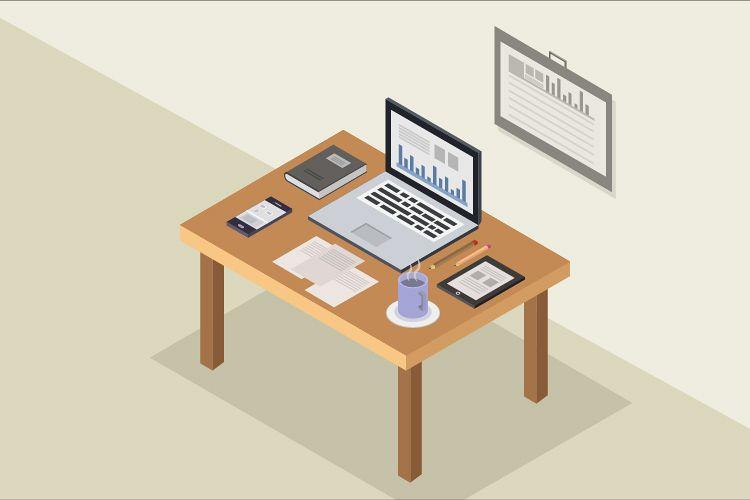 Isometric desk example image 1