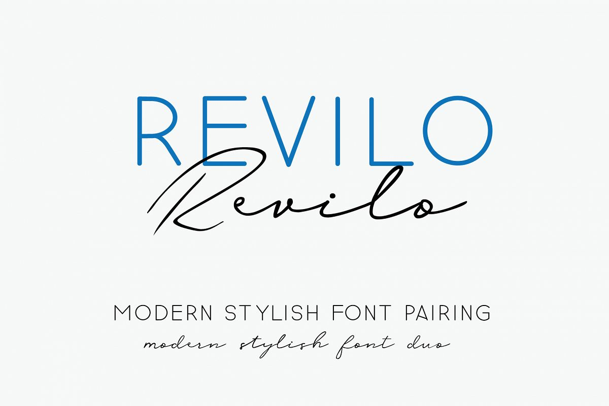 revilo font pairing duo example image 1